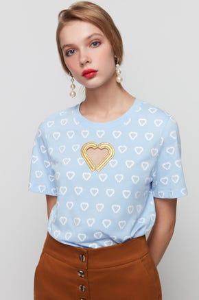Blue Jaspal Heart T-Shirt