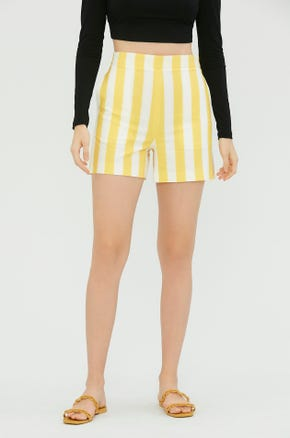 Yellow Striped Shorts