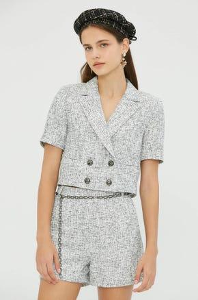 Short Sleeve Cropped Blazer