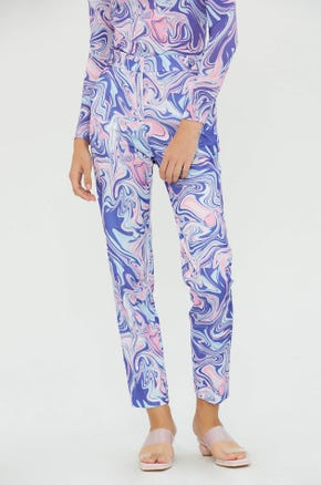 Printed Straight Leg Pants