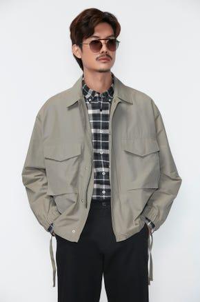 Side Tie Bomber Jacket