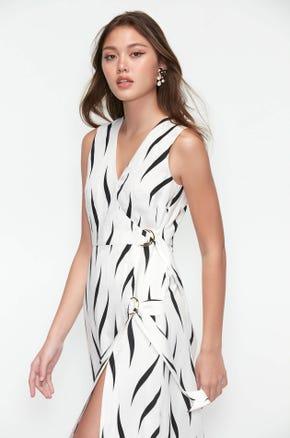 Side Slit Midi Dress