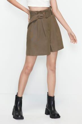 Paperbag Belted Shorts