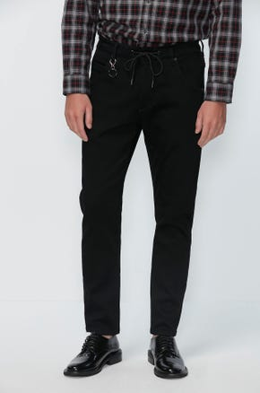 Black Drawstring Jeans
