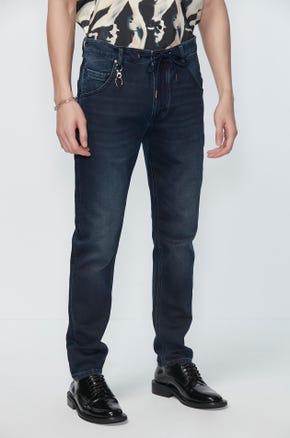 Blue Drawstring Jeans