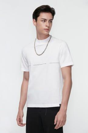Mock Neck Logo T-Shirt