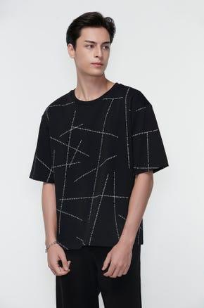 Oversized Logo Lines T-Shirt