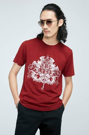 Deadly Key Print T-shirt