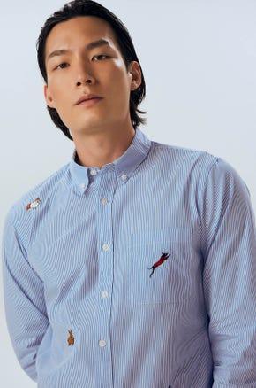 Embroiedred Button Up Shirt