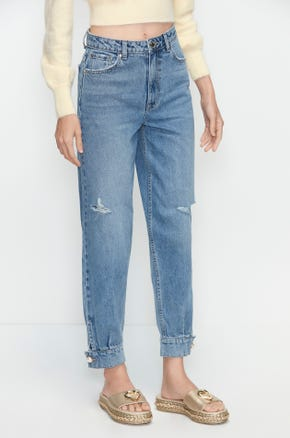 Cuffed Ankle Jeans