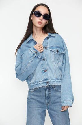 Embellished Denim Bomber Jacket