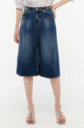 Blue Culotte Jeans