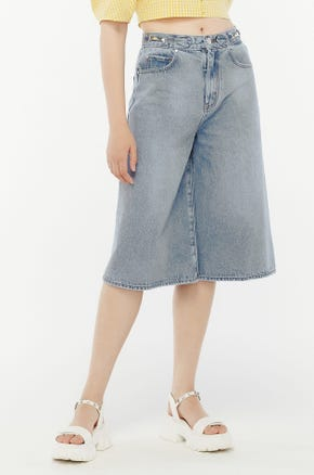 Faded Culotte Jeans