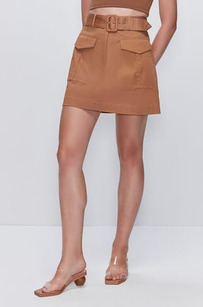 Flap Pocket Mini Skirt