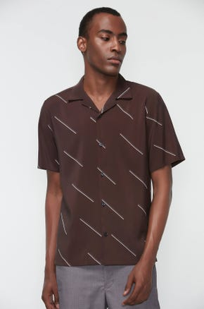 Bar Print Resort Shirt