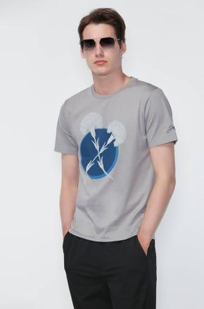 Mercerized Floral T-Shirt