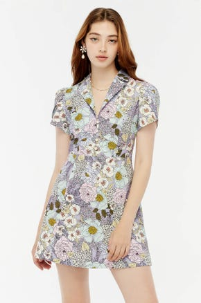 Floral Mini Shirt Dress
