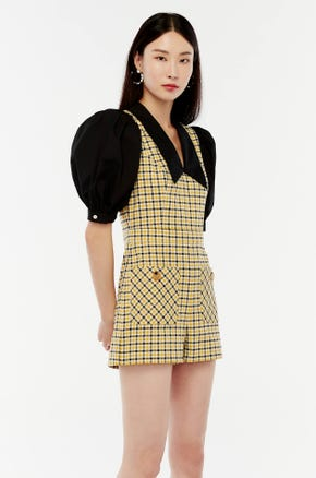 Yellow Checked Romper