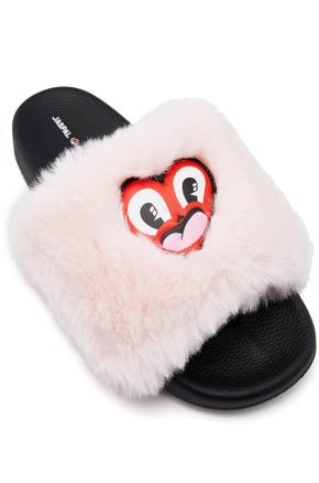 Jaspal x Hattie Fluffy Heart Sandals