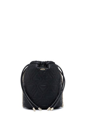 Quilted Heart Bucket Bag