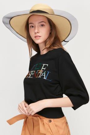 Mesh Trim Beach Hat