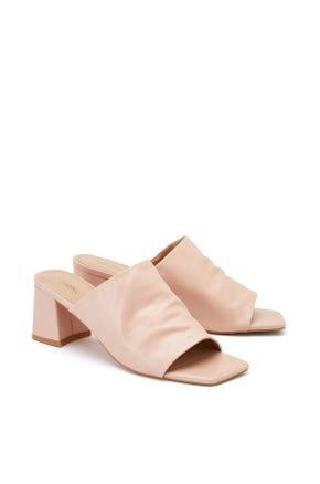 Mid Heel Mule Sandals