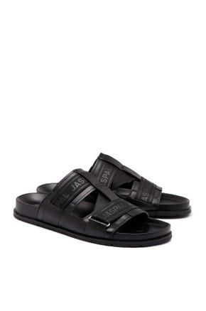 Logo Tape Sandals