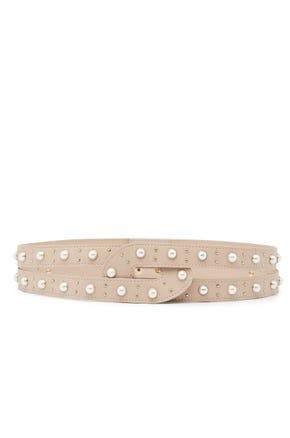 Faux Pearl Double Belt