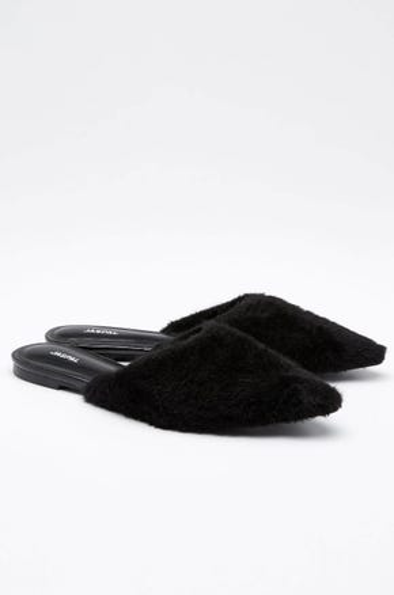 Faux Fur Flats