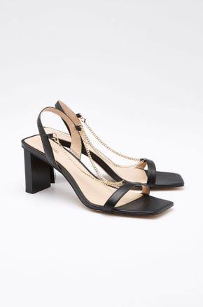 Chain Strap Slingback Heels