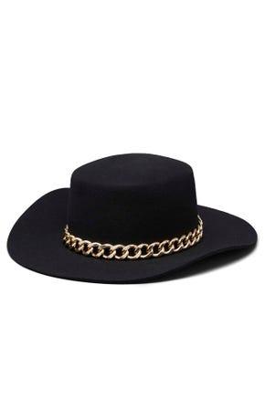 Chain Wide Brim Hat