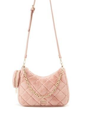 Quilted Faux Fur Crossbody Bag