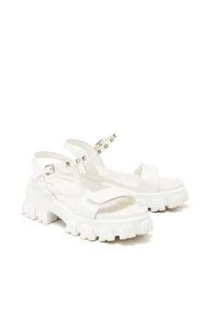 Crystal Embellished Chunky Sandals