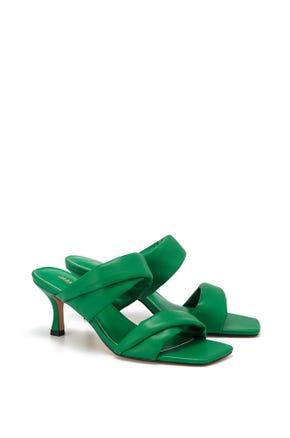 Open Toe Mid Heel Sandals