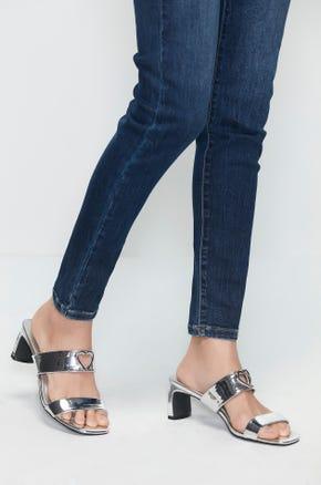 Mid Heel Heart Sandals