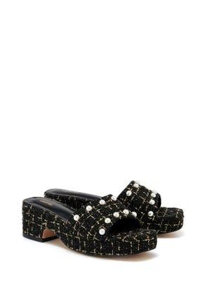 Pearl Tweed Sandals
