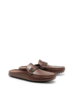 Logo Backless Mule Loafers